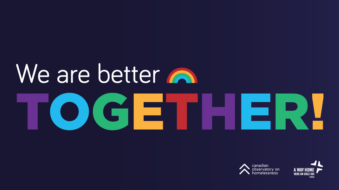 We are better together - rainbow colors