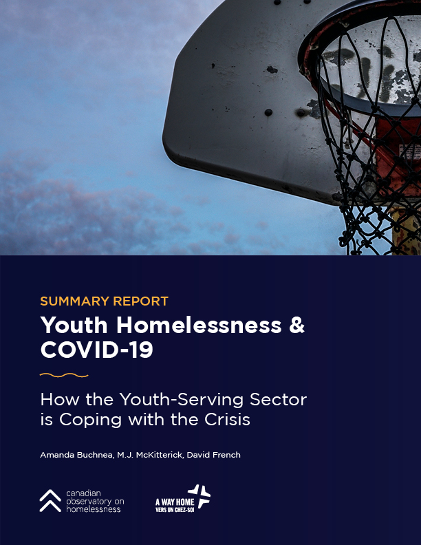 Youth Homelessness & Covid-19 Report cover