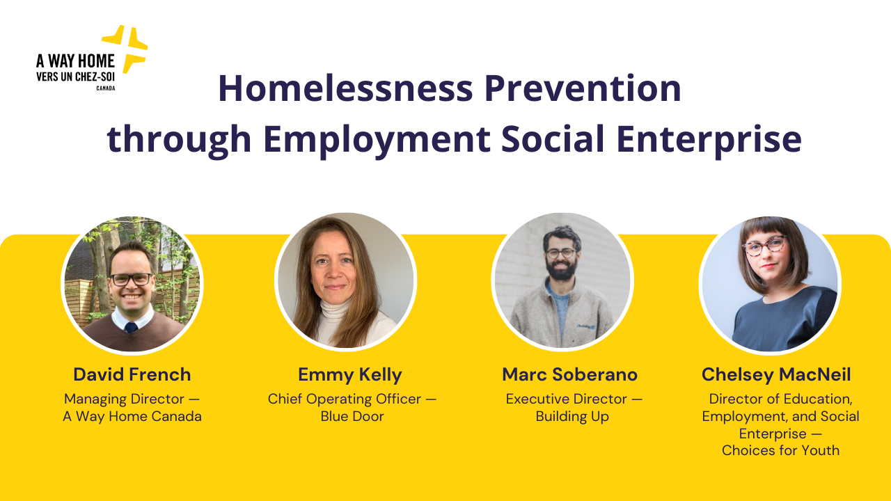 Homelessness Prevention through Employment Social Enterprise - Promotional Image