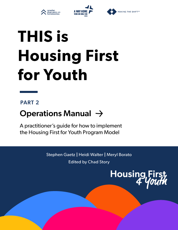 Cover Housing First For Youth Manual